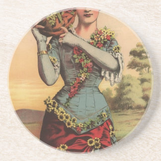 1 free vintage printable - cigar label nosegay jpg drink coasters