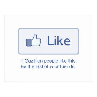 1 Gazillion Likes Postcard