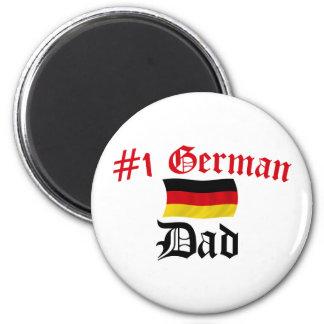 #1 German Dad 2 Inch Round Magnet
