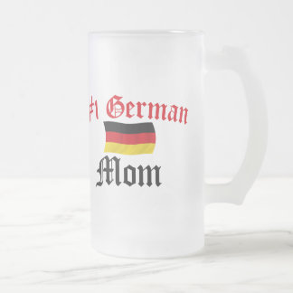 #1 German Mom Frosted Glass Beer Mug