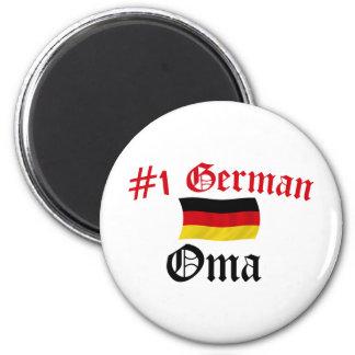 #1 German Oma 2 Inch Round Magnet