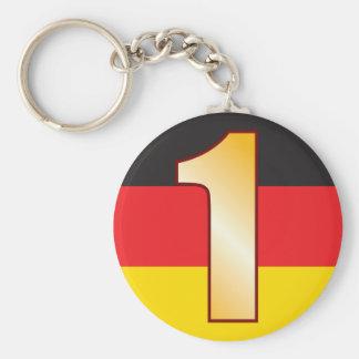1 GERMANY Gold Basic Round Button Keychain