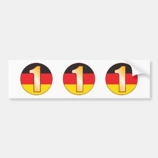 1 GERMANY Gold Bumper Sticker