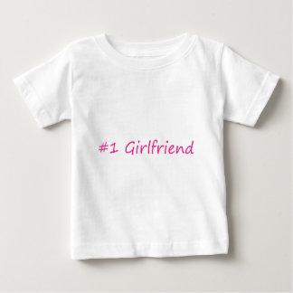 #1 Girlfriend Baby T-Shirt