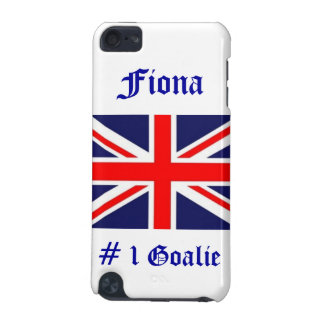 # 1 Goalie!-U.K. flag/Personalize Name iPod Touch 5G Cases