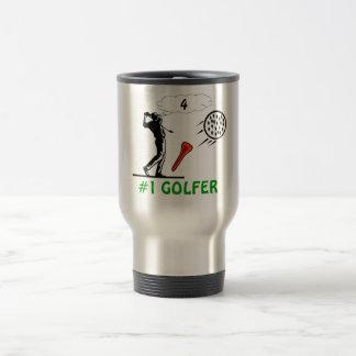 1 golfer coffee mug