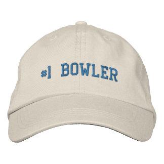 #1 gorra bordado jugador de bolos del número uno gorras de beisbol bordadas