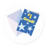 #1 Grad Classic Round Sticker