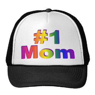 #1 gráfico del arco iris de la mamá 3D Gorros