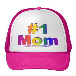 #1 gráfico del arco iris de la mamá 3D Gorro De Camionero