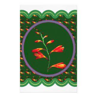 1 gráfico floral de la foto de la flor del papeleria de diseño