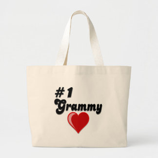 #1 Grammy Grandparent's Day Gifts Large Tote Bag