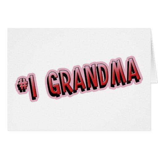 #1 Grandma Card