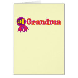 Greeting Card with #1 Grandma Award design