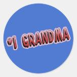 #1 Grandma Classic Round Sticker