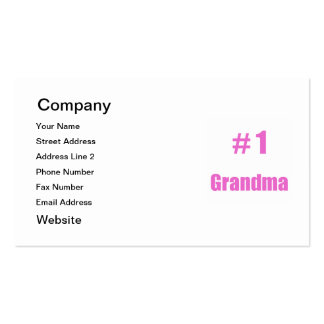 #1 grandma Double-Sided standard business cards (Pack of 100)