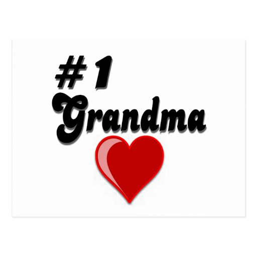 #1 Grandma Grandparent's Day Gifts Post Cards