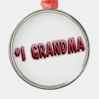 #1 Grandma Metal Ornament