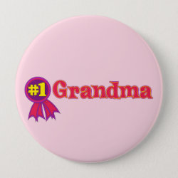 Round Button with #1 Grandma Award design