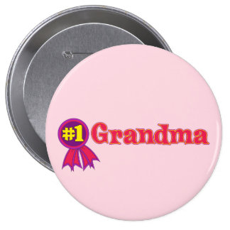 #1 Grandma Pinback Button