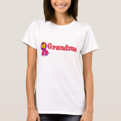 Women's Basic T-Shirt with #1 Grandma Award design