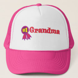 Trucker Hat with #1 Grandma Award design