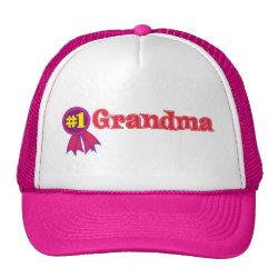 Trucker Hat with #1 Grandma Award design