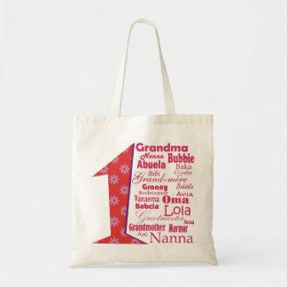 #1 Grandmother Budget Tote Bag