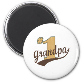 #1 Grandpa 2 Inch Round Magnet