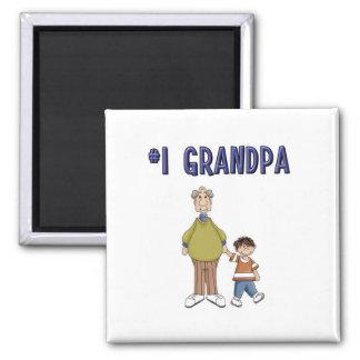 #1 Grandpa 2 Inch Square Magnet