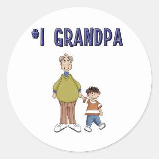 #1 Grandpa Classic Round Sticker