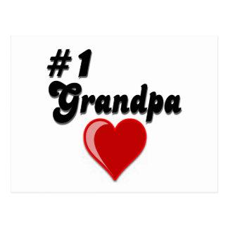 #1 Grandpa - Grandparent's Day Post Card