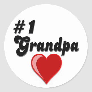 #1 Grandpa - Grandparent's Day Classic Round Sticker