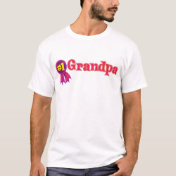 Men's Basic T-Shirt with #1 Grandpa Award design