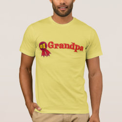 Men's Basic American Apparel T-Shirt with #1 Grandpa Award design