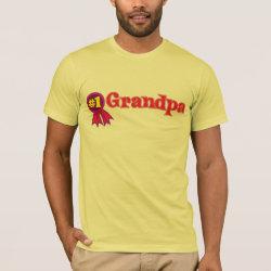 Men's Basic American Apparel T-Shirt with #1 Grandpa Award design