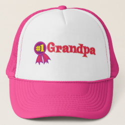 Trucker Hat with #1 Grandpa Award design