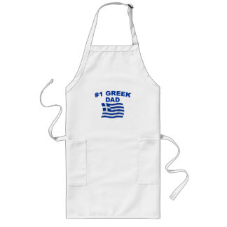 #1 Greek Dad Long Apron