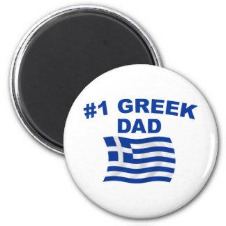 #1 Greek Dad 2 Inch Round Magnet