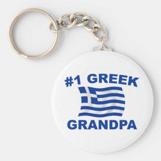 #1 Greek Grandpa Basic Round Button Keychain