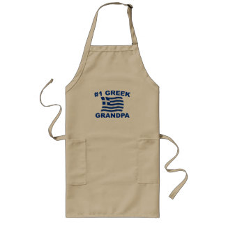 #1 Greek Grandpa Long Apron