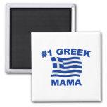 #1 Greek Mama Refrigerator Magnets