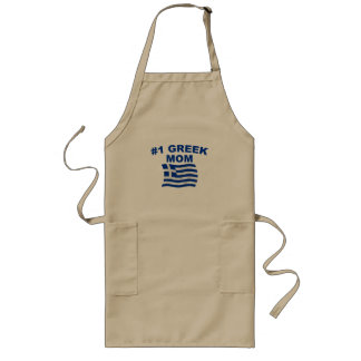 #1 Greek Mom Long Apron