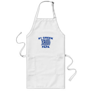 #1 Greek Papa Long Apron