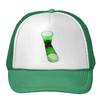 1 Green Cocktail Shot Glass Trucker Hat