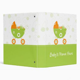 """1"""" Green Color Stroller Baby Photo Album Vinyl Binder"""