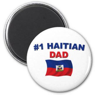 #1 Haitian Dad 2 Inch Round Magnet