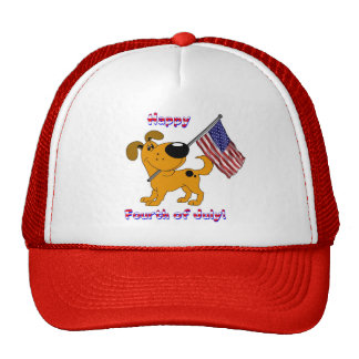 1- Happy Fourth of July! Trucker Hat