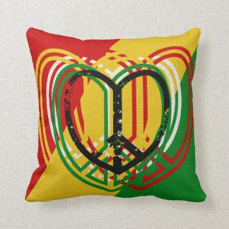 1 Heart Peace Sign Rastah Skateboard Decor Pillow
