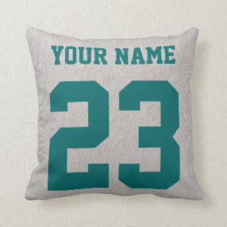 #1 Hockey Coach Add Your Name & Number Pillow